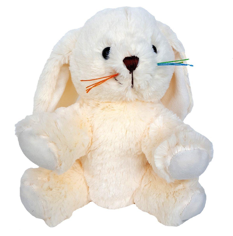 Cuddly Soft 8 inch Stuffed Cream Bunny...We stuff 'em...you love 'em!