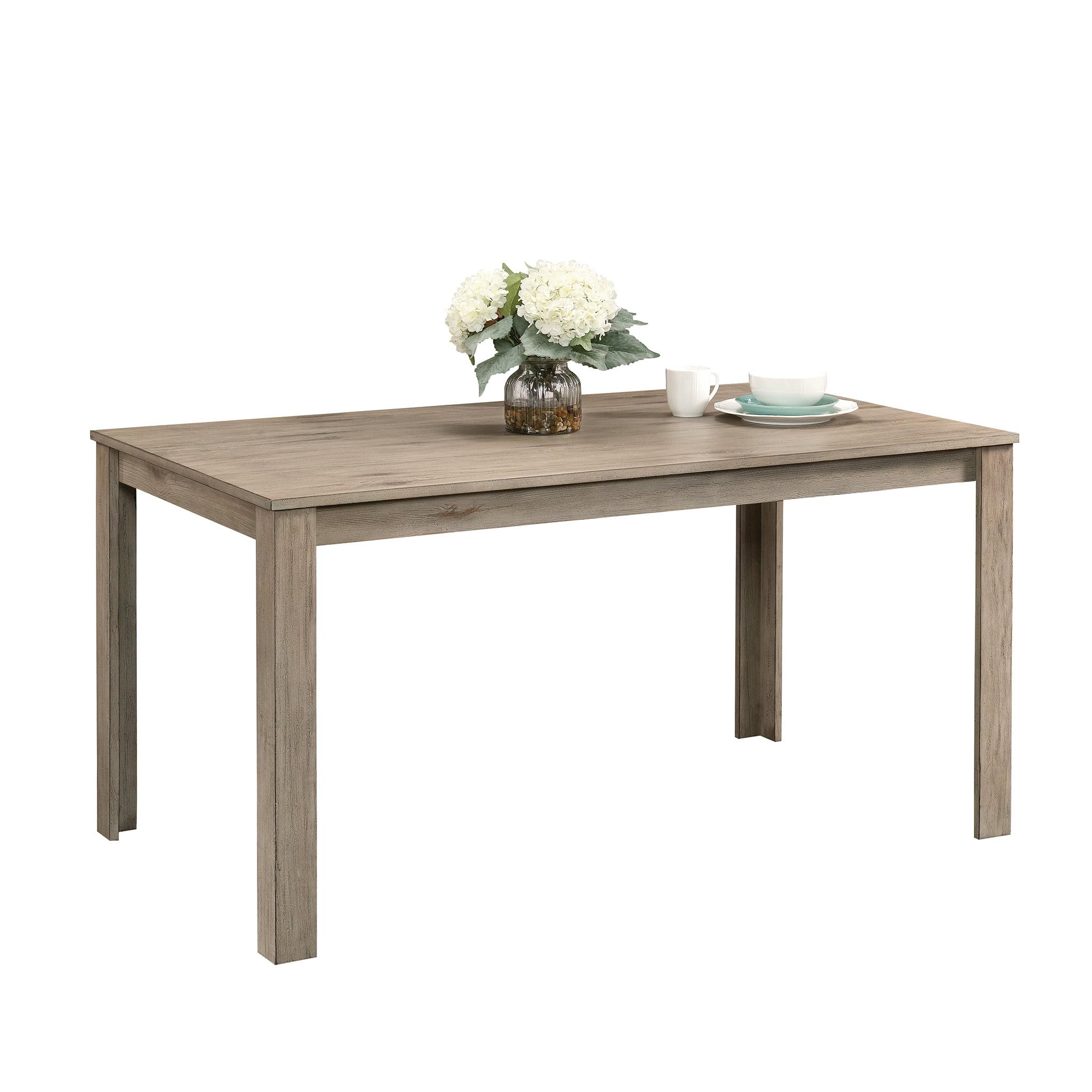 Sauder New Grange Modern Farmhouse Dining Table White Pine Finish