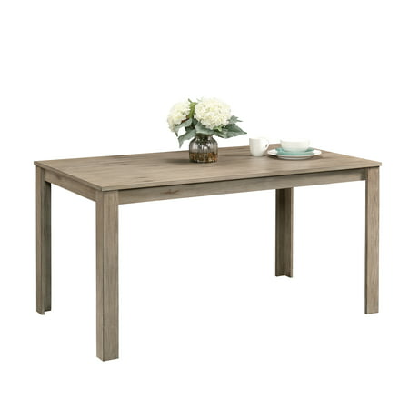 Sauder New Grange Modern Farmhouse Dining Table, White Pine Finish