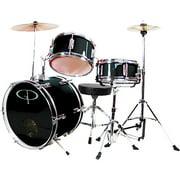GP Percussion 3-Piece Complete Junior Drum Set, Black
