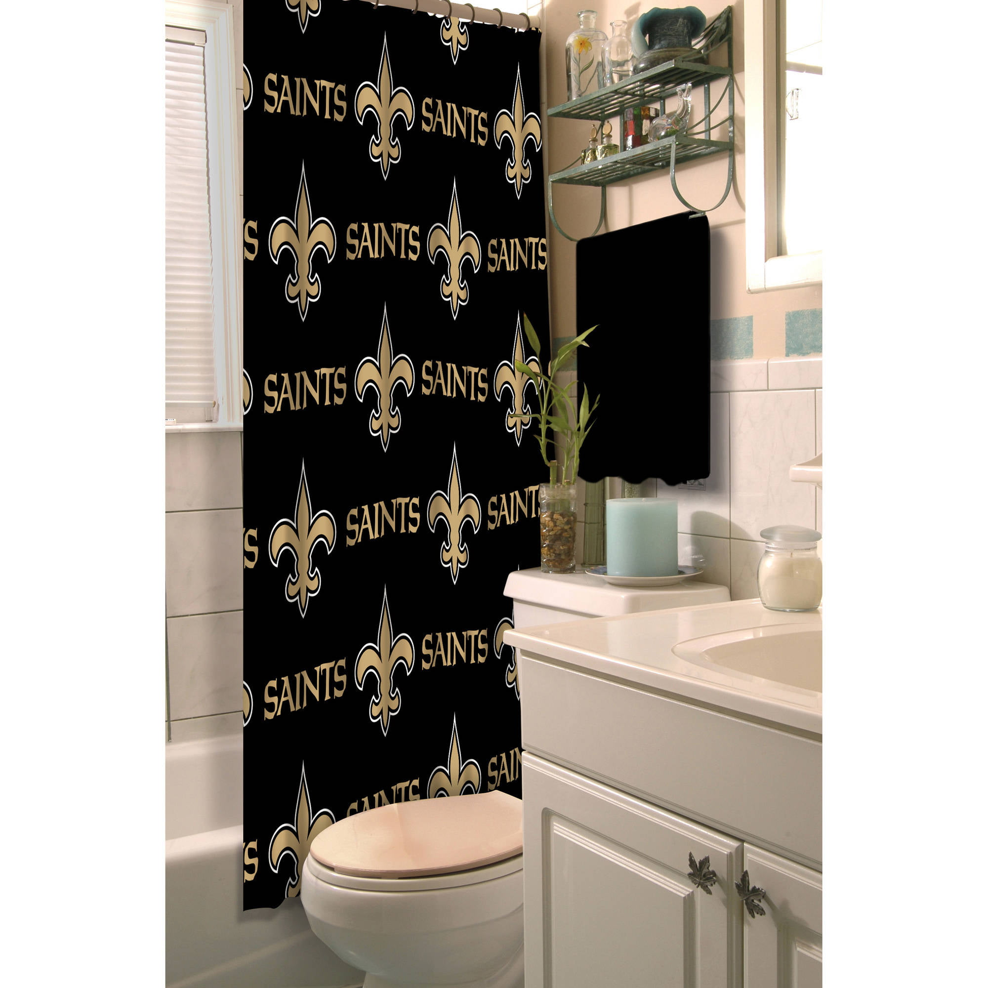 Nfl New Orleans Saints Shower Curtain 1 Each Walmart Com