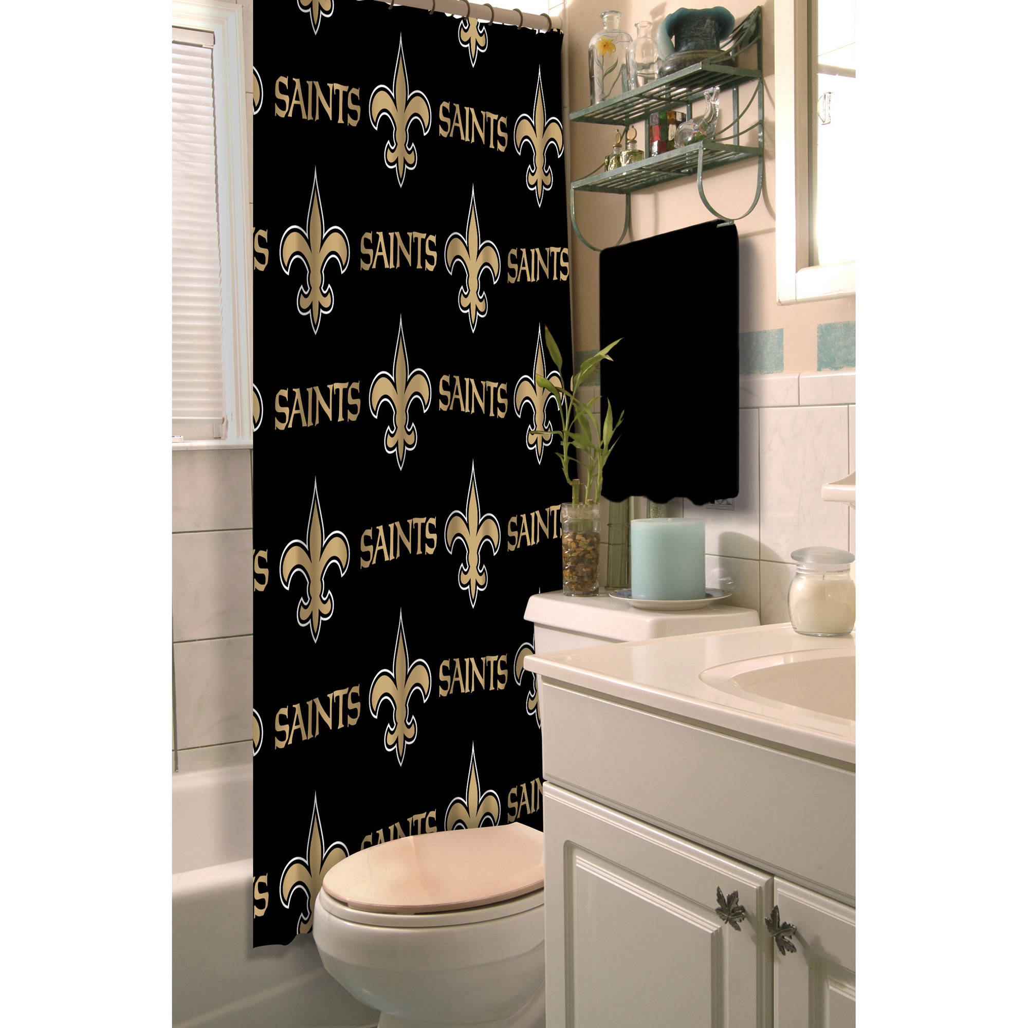 NFL New Orleans Saints Decorative Bath Collection - Shower Curtain