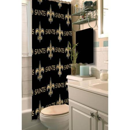 Nfl New Orleans Saints Decorative Bath Collection Shower Curtain
