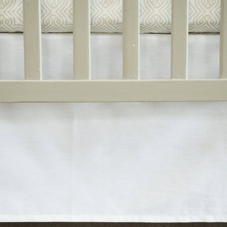 Oliver B Crib Skirt, 100% Cotton Panels, White