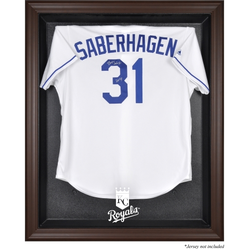 Kansas City Royals Fanatics Authentic Brown Framed Logo Jersey Display Case - No Size