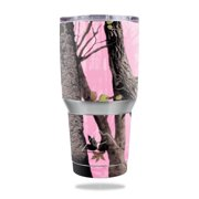 MightySkins Protective Vinyl Skin Decal for Ozark Trail 30 oz Tumbler wrap cover sticker skins Pink Tree Camo