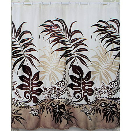 Tropical theme 100 polyester textured fabric shower for Monster themed fabric