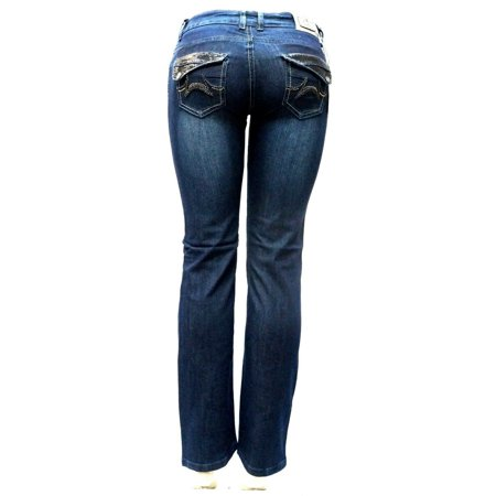 Straight Leg Denim Blue Jeans (BRAND NEW LIA Verona Junior WOMEN'S BLUE Denim Stretch Bootcut Straight Leg Jeans Pants )