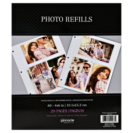 Pinnacle 4x6 Photo Album Page Refills Walmartcom