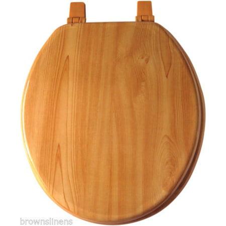 Outstanding Maple Woodgrain Look Wood Toilet Seat Elongated Customarchery Wood Chair Design Ideas Customarcherynet