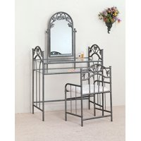 2-piece Vanity Set Pewter and Ivory