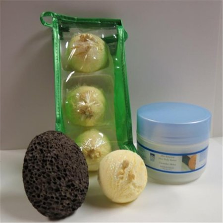 Lime Truffles (Dead Sea Spa Care DeadSea-BBTCocL03 3 Pack Coconut Lime Bubble Bath Truffles, 8 oz Cucumber & Melon Shea Body Butter & Pumice Stone)
