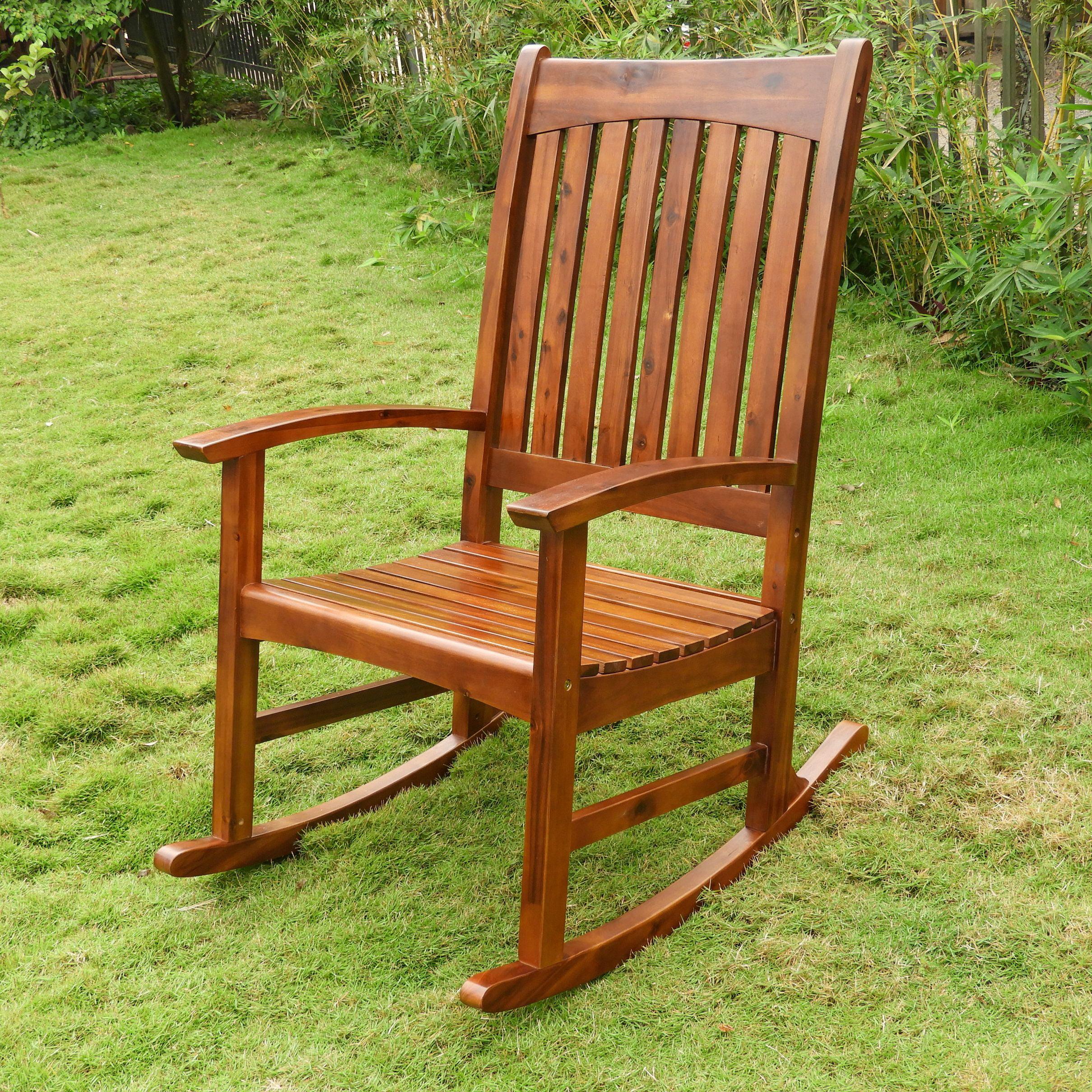Highland Acacia Americana Rocking Chair