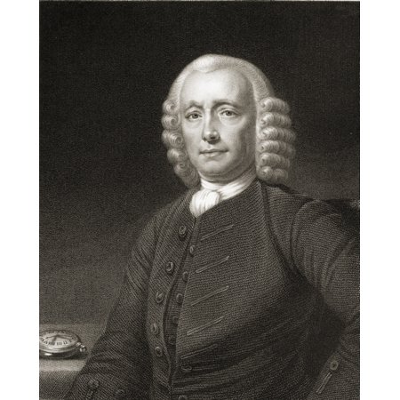 John Harrison 1693-1776 English Horologist And Inventor From The Book Gallery Of Portraits Published London 1833 PosterPrint (English Portrait)