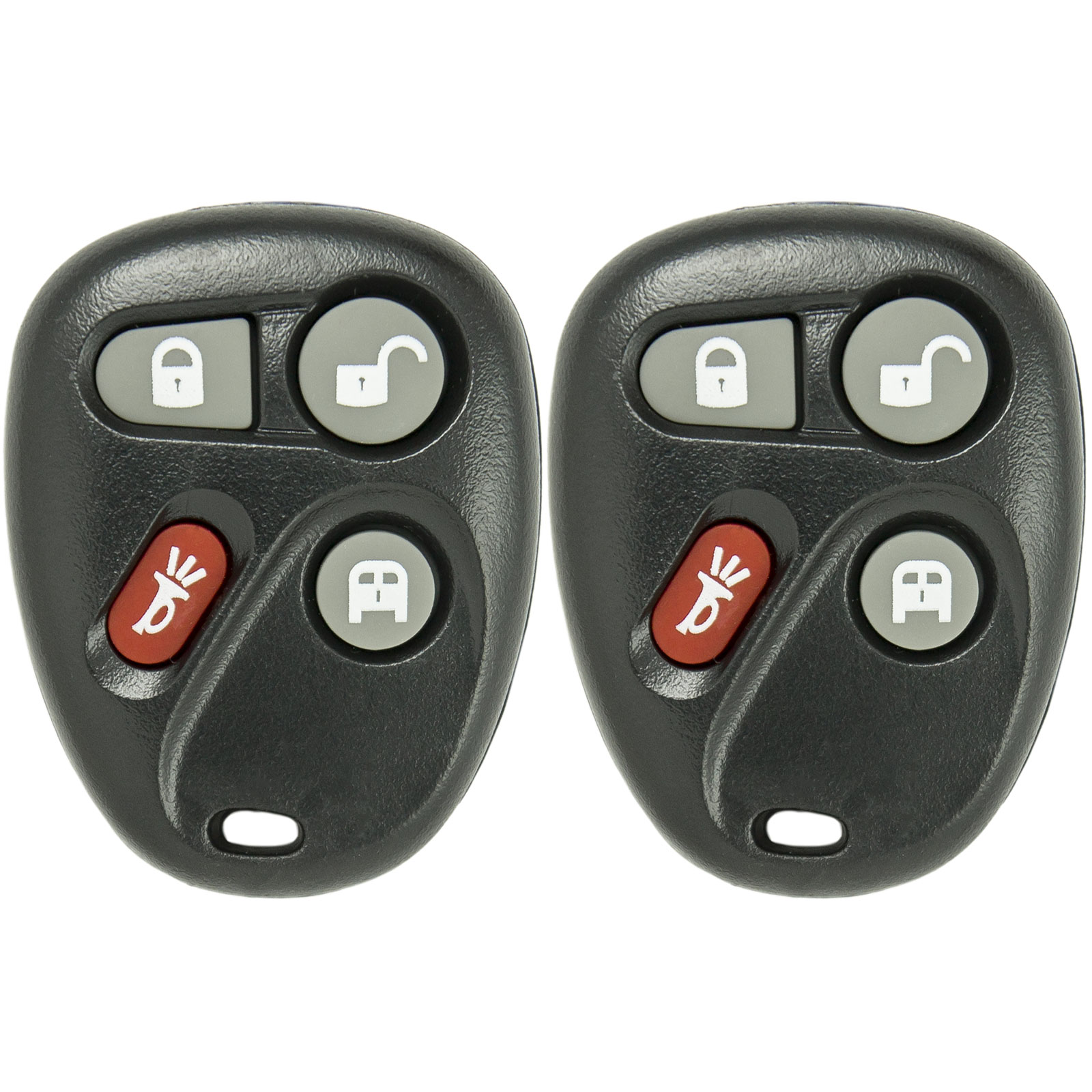 New Keyless Entry 4 Button Replacement Remote Car Key Fob for Select Express Savana That Use FCC ID KOBLEAR1XT 15752330 (2 Pack)