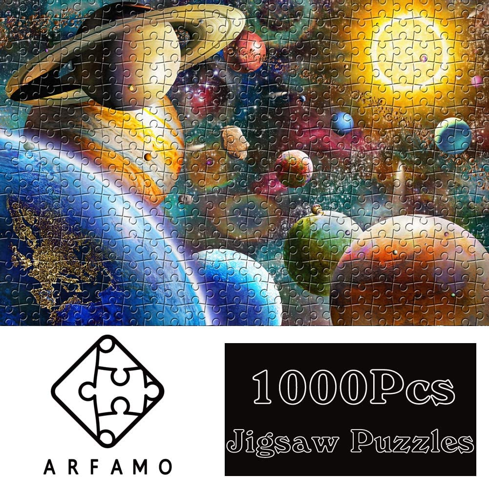 Large Puzzle Game Toys Gift(Autumn Painting) Large Size New Puzzle for Adult and Kids 1000 Pieces Paper Outeck Puzzles Vintage Paintings Landscape Jigsaw Puzzle