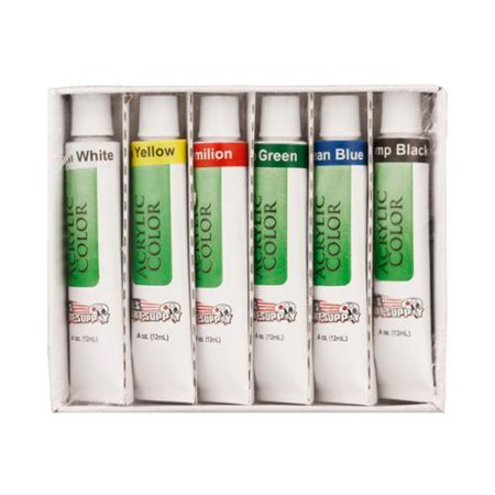 Us art supply 6 10ml tube artist acrylic paint set quick for Fast drying craft paint