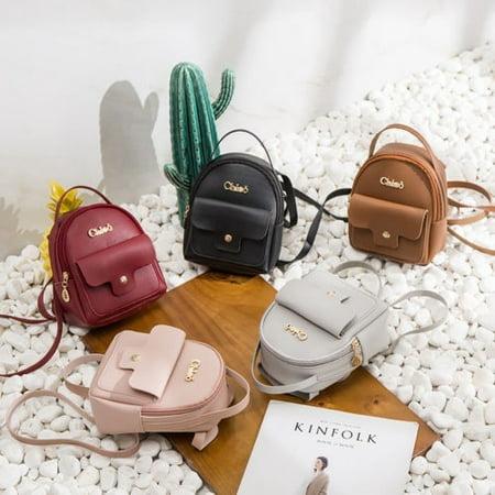 Women Girls Mini Faux Leather Backpack Rucksack School Bag Travel Handbag Lot ()