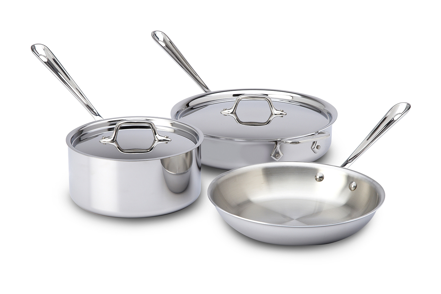 All-Clad Tri-Ply Stainless Steel 5 Piece Cookware Set (401599) by All-Clad