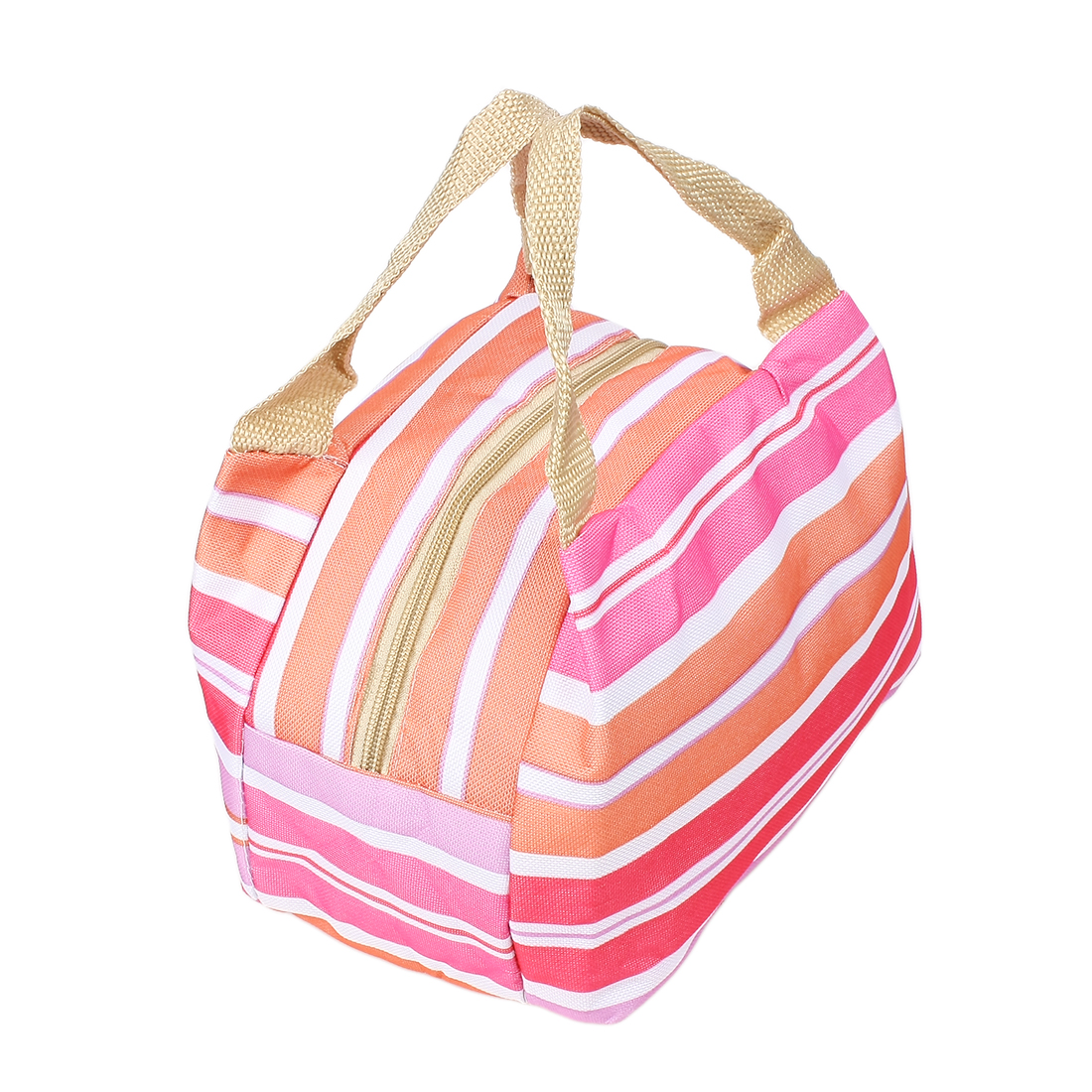 Canvas Assorted Color Picnic Lunch Drink Thermal Insulated Cooler Tote Bag