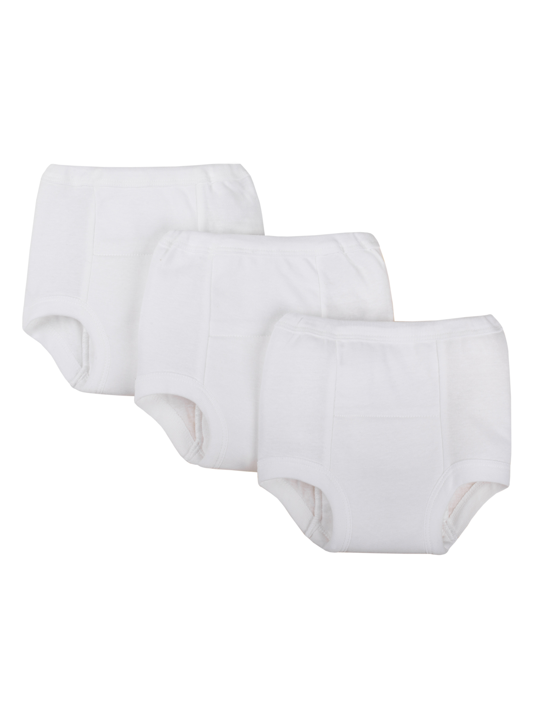 Unisex White Training Pants, 3-pack (Toddler Boys, Toddler Girls, Unisex)