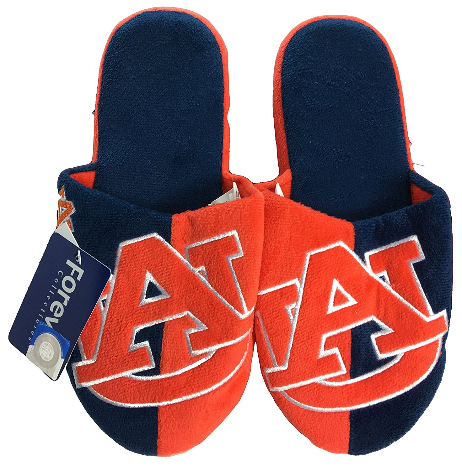 NCAA Auburn Tigers Men's Team Logo Slippers Two-Tone (XL 13-14)