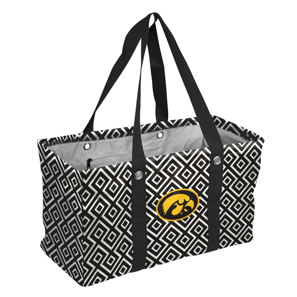 Iowa Hawkeyes Official NCAA Diamond Picnic Caddy Tote Bag by Logo 051695