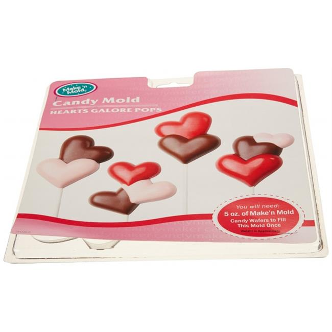 Make N Mold 3082 Hearts Galore Candy Mold- pack of 6