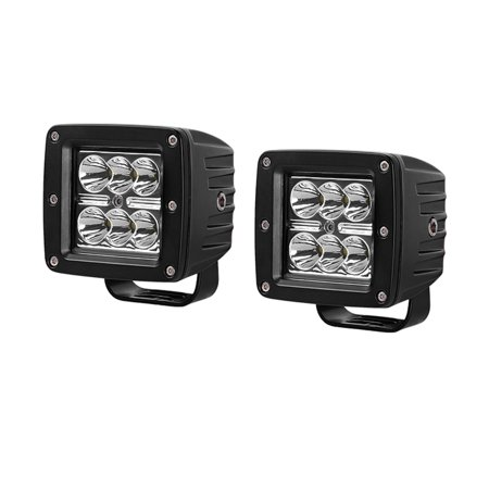 2PCS 3Inch 24W LED Spot Work Light Bar Backup Square Jeep Fog Lights Pods