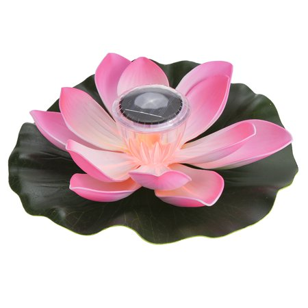 0.1W Solar Powered Multi-colored LED Lotus Flower Lamp RGB Water Resistant Outdoor Floating Pond Night Light Auto On / Off for Garden Pool Party Ideal Gift  Pink Floating Flower Lights
