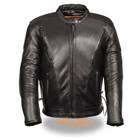 Milwaukee Mens Premium Side Lace Vented Scooter Jacket Black