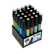 25-Count Art Director Permanent Marker Set with Tri-Nibbed Tips