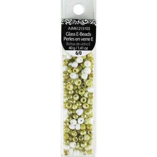 Cousin 40g Glass White/Gold Mix 6/0 E-Bead