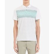 Calvin Klein Mens' Liquid 2-Button Tee, Tourney Combo, Size Large - NEW