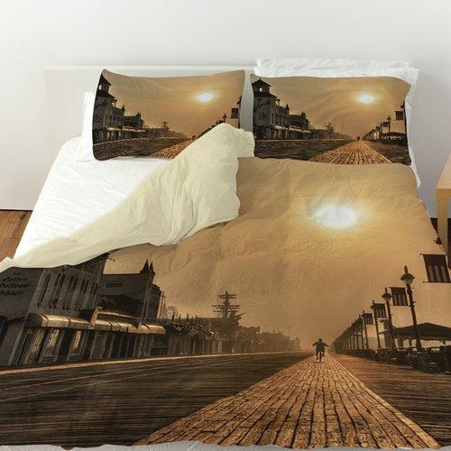 Manual Woodworkers & Weavers Boardwalk Sunrise Duvet Cover