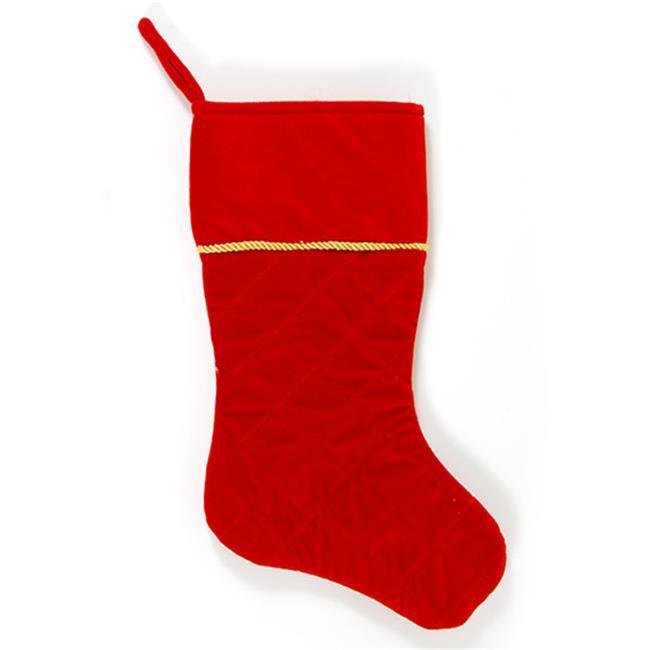 DDI 2127647 Red Velvet Quilt Stocking Case of 36