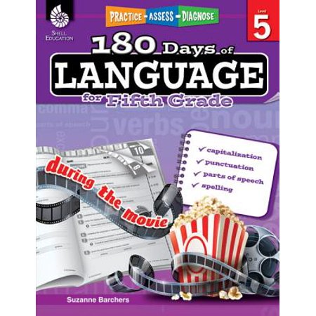 Daily Language Practice Book (180 Days of Language for Fifth Grade (Grade 5) : Practice, Assess, Diagnose)