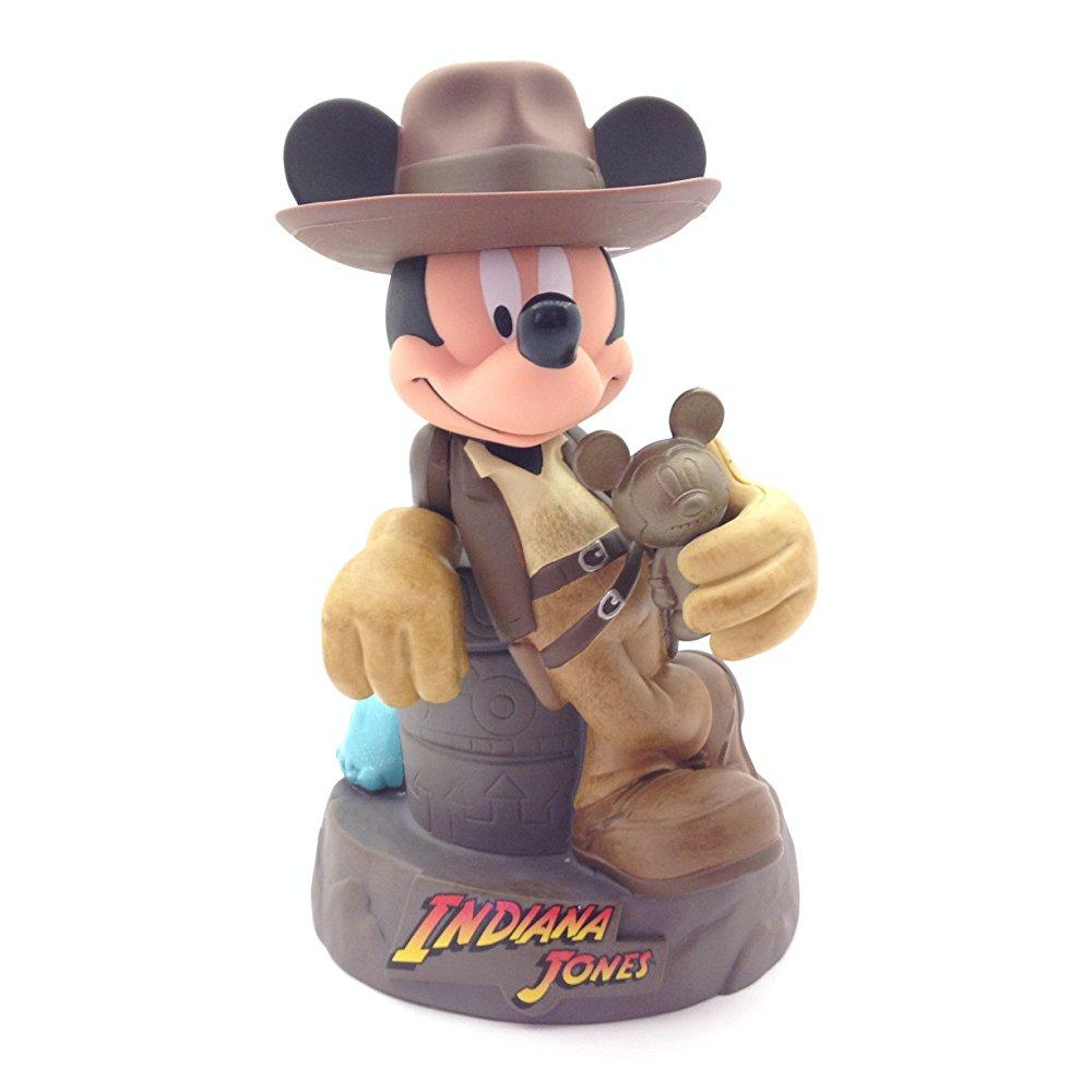 disney parks indiana jones mickey mouse bank