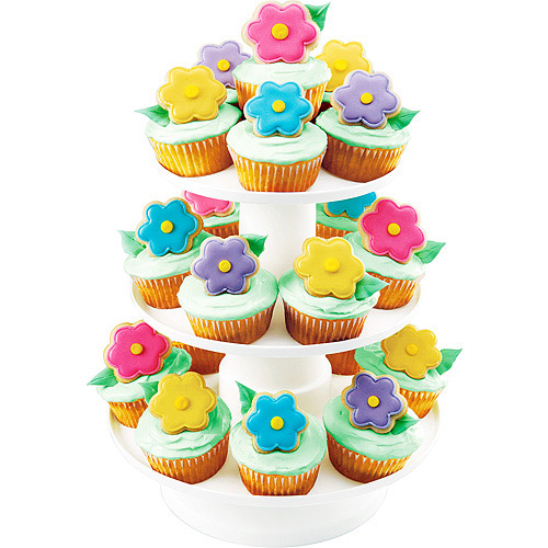 Wilton Stacked 3-Tier Cupcake and Dessert Tower Display Stand