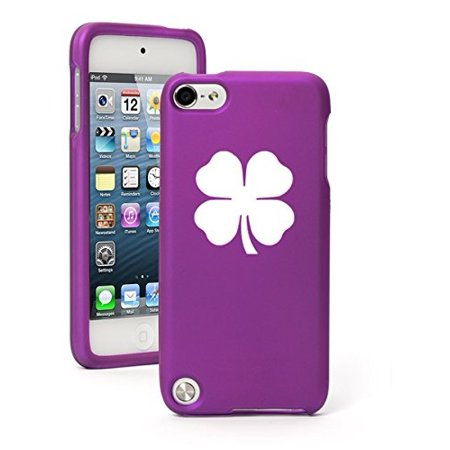 Apple iPod Touch 6th Generation Rubber Hard Case Cover 4 Leaf - 4 Leaf Clover For Sale