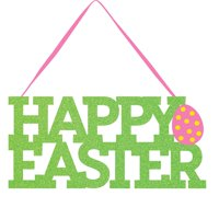 "Happy Easter 5"" x 11"" Glitter Sign"
