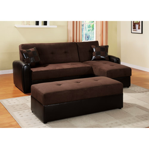 Lakeland Sectional Sofa with Storage, Chocolate (box 1 of 2)