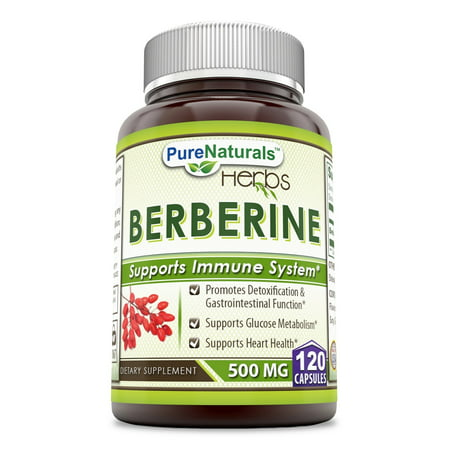 Pure Naturals Berberine Plus 500 Mg 120 Capsules (Sinufix Natural)