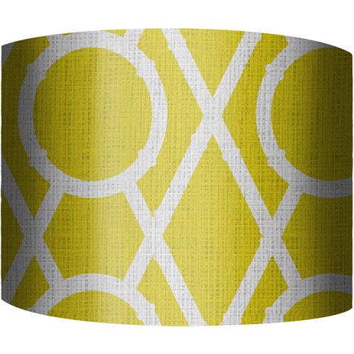 "12"" Drum Lampshade, X's and O's Yellow by"