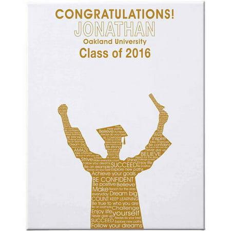 Personalized Graduation Autograph Canvas, 16