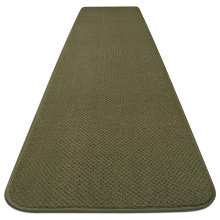 Skid-resistant Carpet Runner - Olive Green - 6 Ft. X 27 In. - Many Other Sizes to Choose