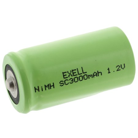 Exell 1 2V 3000mAh NiMH SubC Size Rechargeable Button Top Battery FAST USA  SHIP
