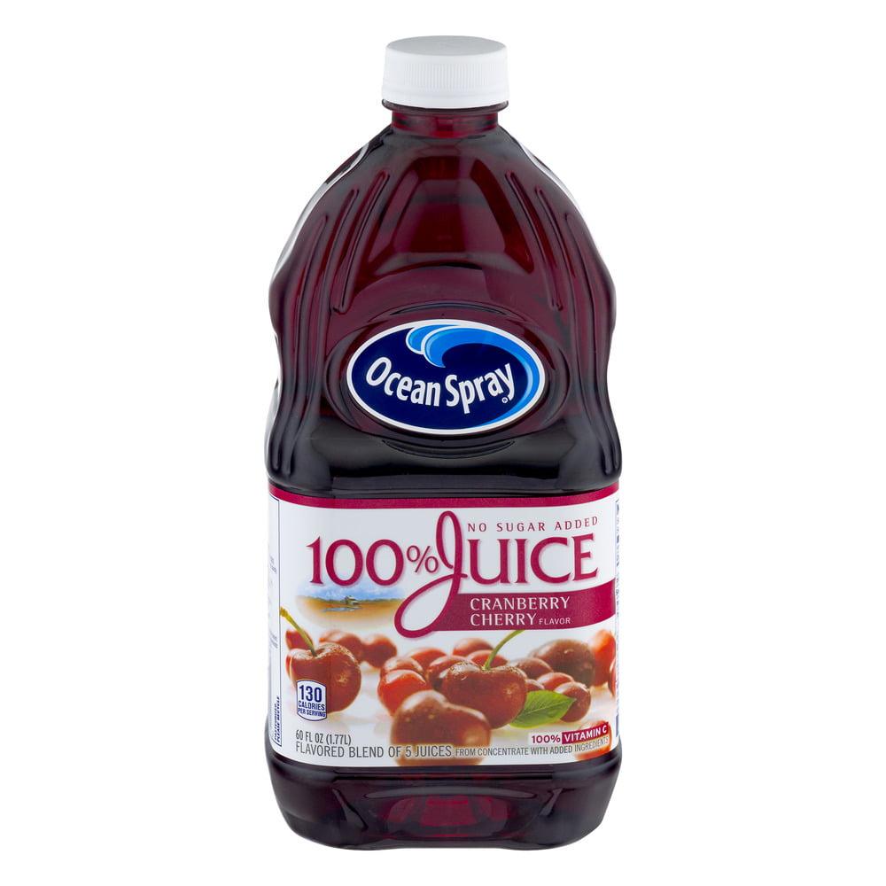Ocean Spray 100% Juice No Sugar Added Cranberry Cherry, 60.0 FL OZ