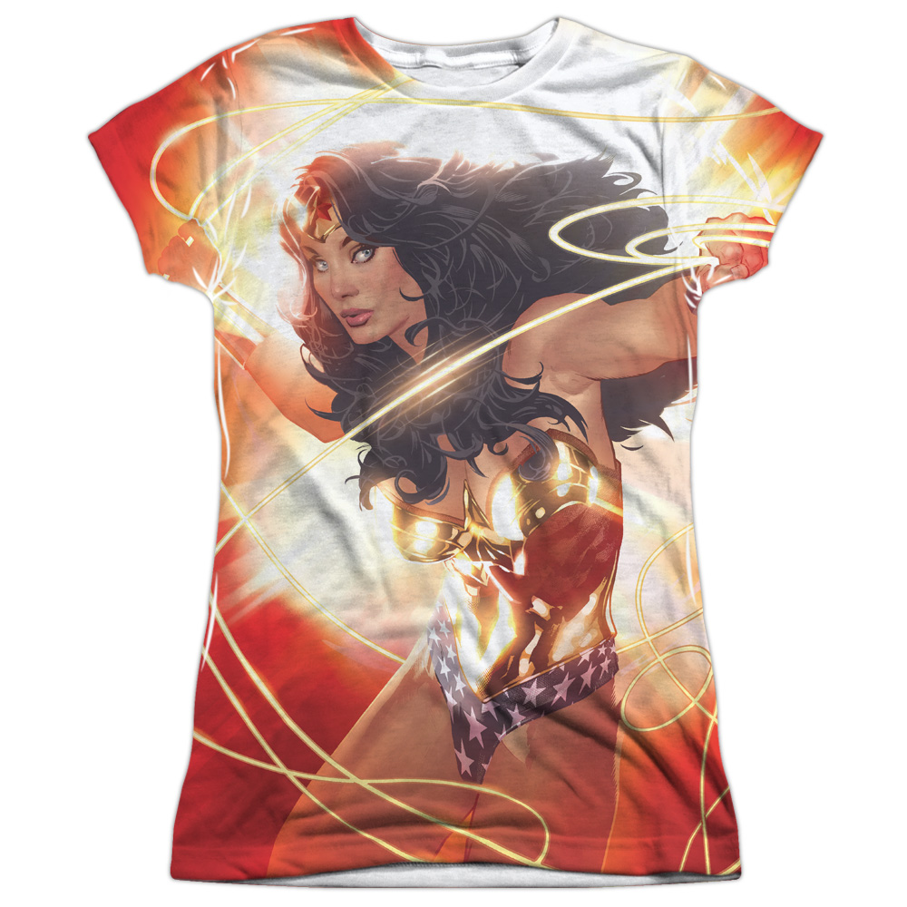 Justice League Wonder Glow (Front Back Print) Juniors Sublimation Shirt