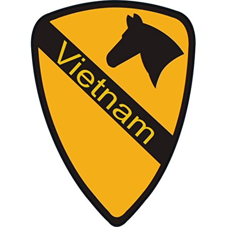 MAGNET US Army 1st Cavalry Division Vietnam Patch Decal Magnetic Sticker 5.5